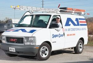 A1 air conditioning Van with logo on side image