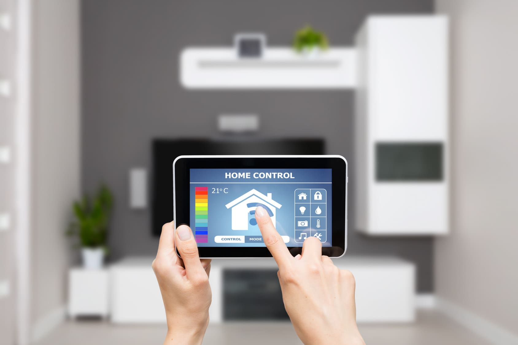 Smart home thermostat image