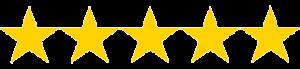 5 gold stars icon