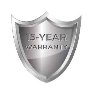 15 year warranty shield icon image furnace installation