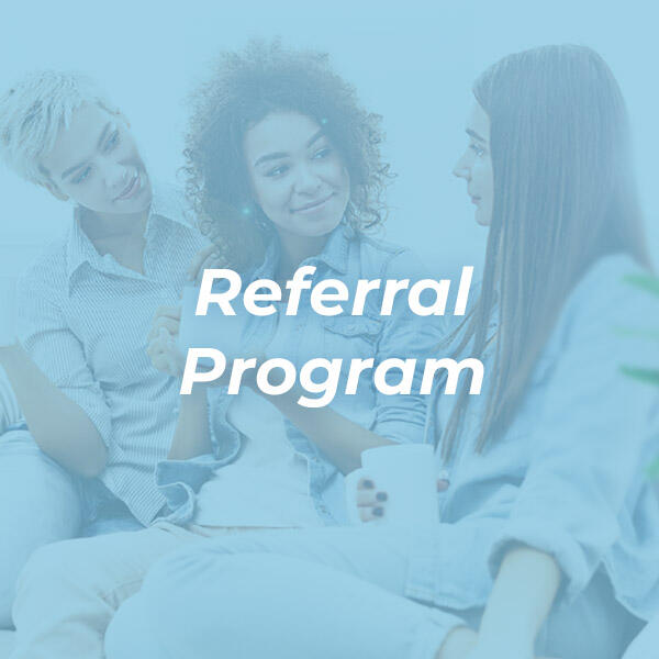Deals Referral program image with 3 ladies with blue overlay HVAC Solutions