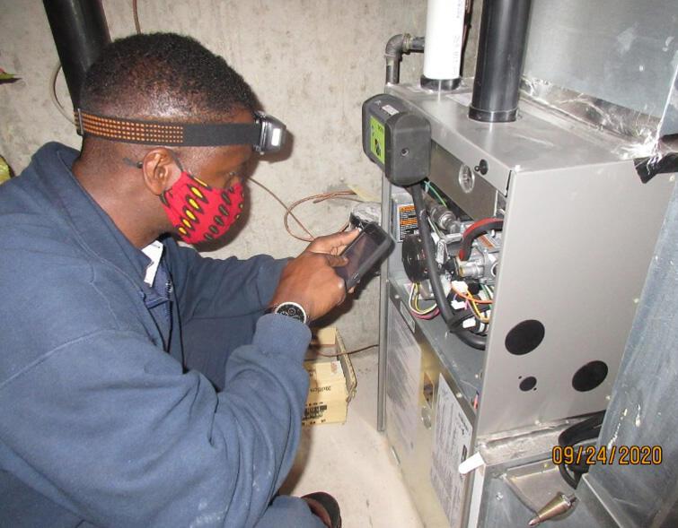 A1 furnace service technician