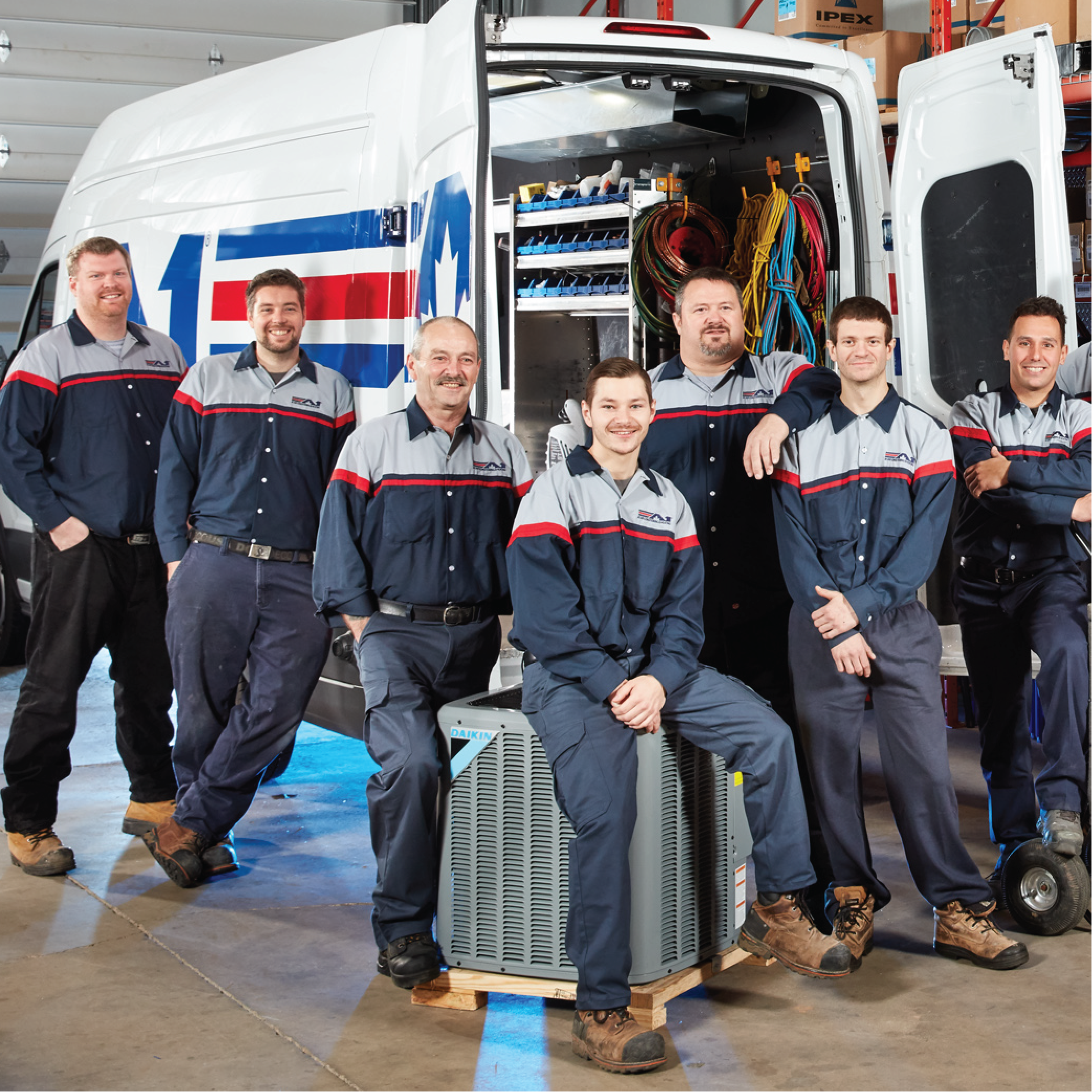 Image of A1 Air Conditioning & Heating certified service technicians for heating and cooling needs